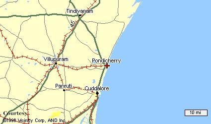 Pondicherry Map Pondicherry Routes - Pondicherry map